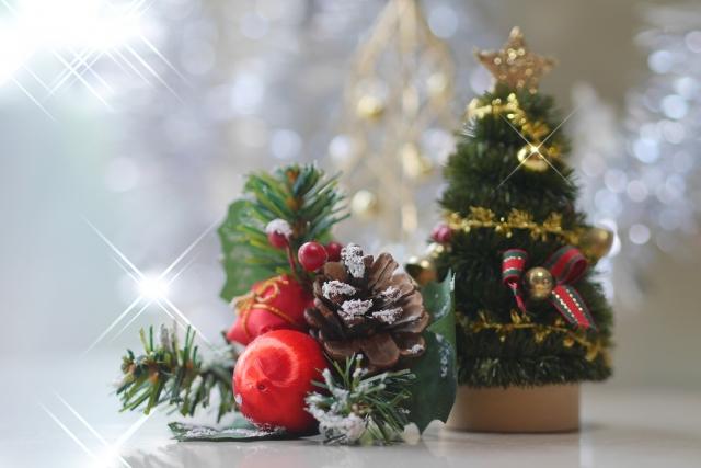 クリスマスツリー かわいい ミニ リラックマ ガラス